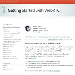 Getting Started with WebRTC - HTML5 Rocks