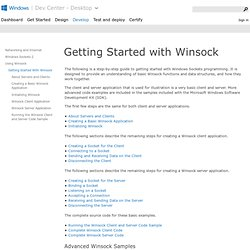 Getting Started with Winsock