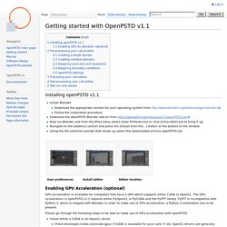 Getting started with OpenPSTD v1.1 - OpenPSTD