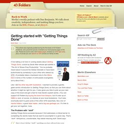 """Getting started with """"Getting Things Done"""""""