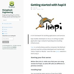 Getting started with hapi 8 - tutorial