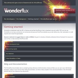 Getting started Wonderflux