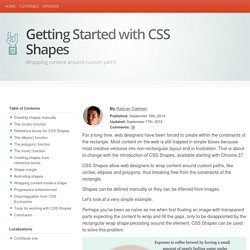 Getting Started with CSS Shapes: Wrapping content around custom paths