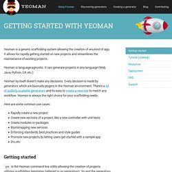 Getting started with Yeoman