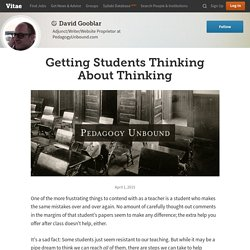 Getting Students Thinking About Thinking