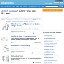 Free Getting Things Done mind map templates and mind mapping examples