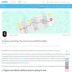 Getting on the Map: The Intro to Local SEO for SABs