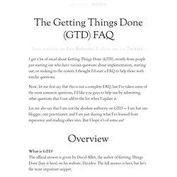 The Getting Things Done (GTD) FAQ