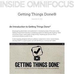 Getting Things Done® - Inside OmniFocus