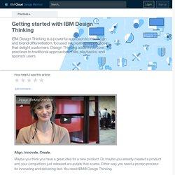 Getting started with IBM Design Thinking - practice - IBM Cloud Garage Method