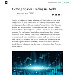 Getting tips for Trading in Stocks