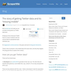 "The story of getting Twitter data and its ""missing middle"""