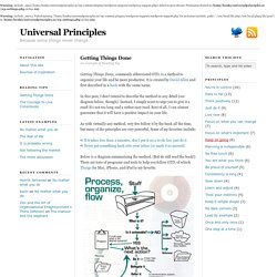 Getting Things Done — Universal Principles