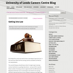 University of Leeds Careers Centre Blog