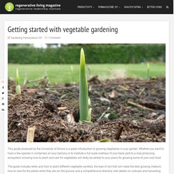 Getting started with vegetable gardening