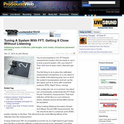 Tuning A System With FFT: Getting It Close Without Listening