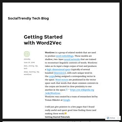Getting Started with Word2Vec – SocialTrendly Tech Blog