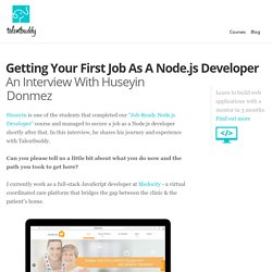 Getting Your First Job As A Node.js Developer