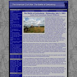 The Battle of Gettysburg & The American Civil War - Lt. Bayard Wilkeson