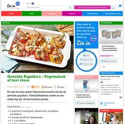 Gevulde paprika's - Vegetarisch of met vlees
