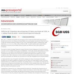 Réforme de l'imposition des entreprises III Selon une étude de l'USS, le «