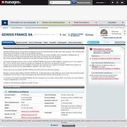 Gewiss France Sa à Liernais sur Manageo.fr (318 762 325 00088)