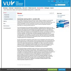 Gezamenlijke verklaring CvB VU – voorzitter LOWI - [jan-mrt]