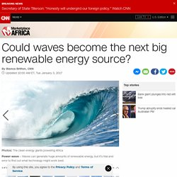Ghana sets out to make energy from its waves