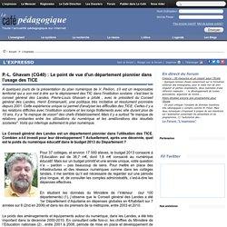 P.-L. Ghavam (CG40) : Le point de vue d'un département pionnier dans l'usage des TICE