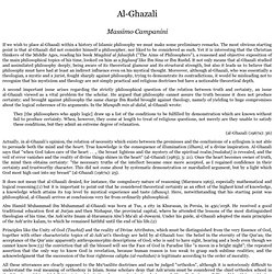 Al-Ghazali: from History of Islamic Philosophy