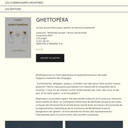 Ghettopéra — les commissaires anonymes