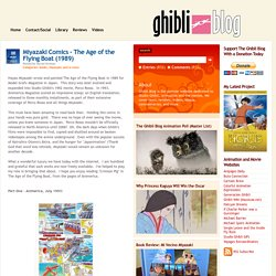 Ghibli Blog - Studio Ghibli, Animation and the Arts: Miyazaki Comics - The Age of the Flying Boat (1989)