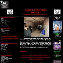 GHOST RESEARCH SOCIETY