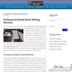 E-book Ghost Writing Services - Writing Content Services