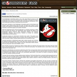 Ghostbusters Role Playing Game - Games - Ghostbusters Fans Wiki