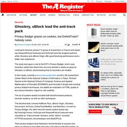 Ghostery, uBlock lead the anti-track pack