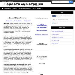 Ghosts and Ghost Stories