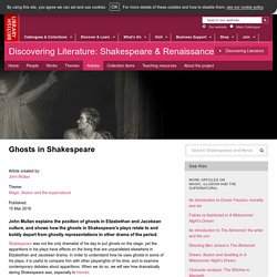 Ghosts in Shakespeare