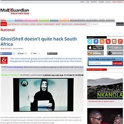 GhostShell doesn't quite hack South Africa