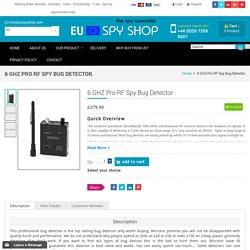 6 GHZ Pro RF Spy Bug Detector - Euspyshop.com