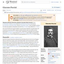 Giacomo Puccini - Wikipedia
