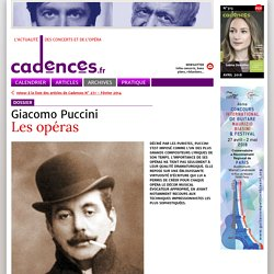 Giacomo Puccini - Les opéras
