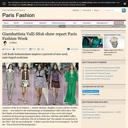 Giambattista Valli SS16 show report Paris Fashion Week