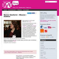Marine Gianfermi - Mission : étableur
