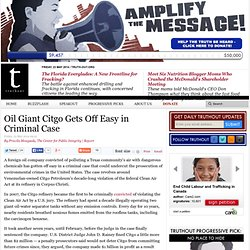 Oil Giant Citgo Gets Off Easy in Criminal Case
