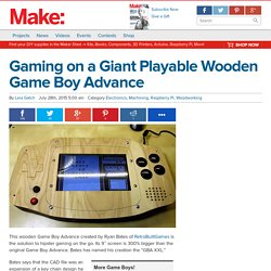 Giant Playable Wooden Game Boy Advance