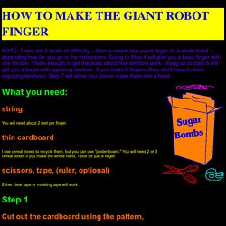 GIANT ROBOT FINGER ASSEMBLY