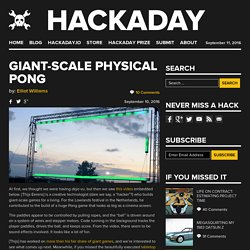 Giant-Scale Physical Pong