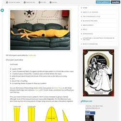 DIY 8-foot giant squid pillow by build-a-diy ...