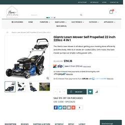 Giantz Lawn Mower Self Propelled 22 inch 220cc 4 IN 1